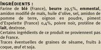 Triangles au piment d'Espelette - Ingrédients
