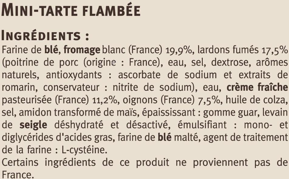 Flammekueche, tarte flambée recette alsacienne - Ingrédients