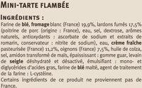 Flammekueche recette alsacienne - Ingrédients