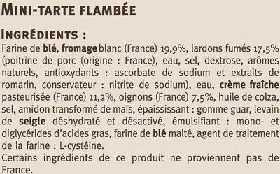 Flammekueche recette alsacienne - Ingrédients - fr
