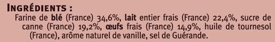 Crêpes de froment Saveurs - Ingrédients - fr