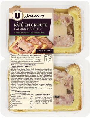 Pâtés en Croûte Canard Richelieu - Produit - fr