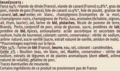 Pâtés en Croûte Canard Richelieu - Ingrediënten - fr