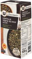 Lentilles vertes du Puy les saveurs - Produit