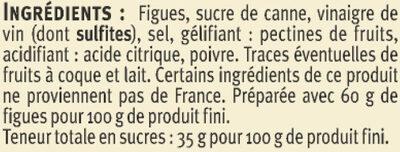 Confit de Figues - Ingrediënten - fr