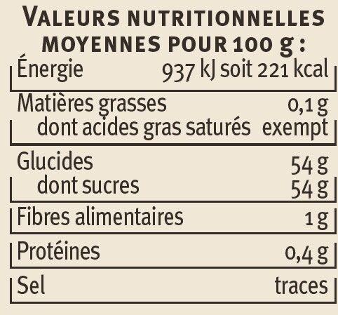 Confiture de fraises récoltées dans le Sud-Ouest Saveurs - Voedingswaarden - fr
