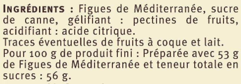 Confiture de figues de Méditerranée - Ingredients