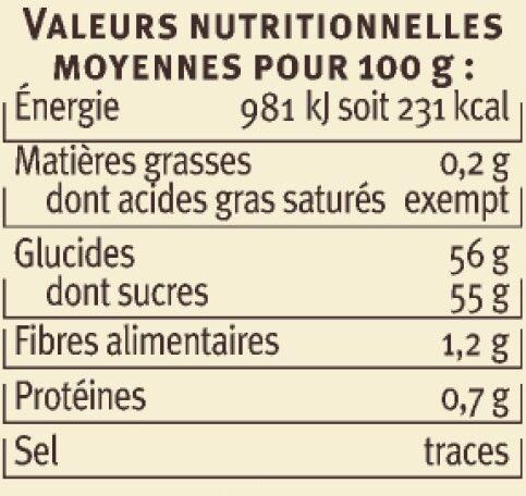 Confiture de figues de Méditerranée - Nutrition facts