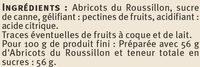 Confiture d'abricots récoltés dans le Languedoc-Roussillon Saveurs - Ingrediënten - fr