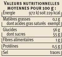 Confiture d'abricots récoltés dans le Languedoc-Roussillon - Nutrition facts