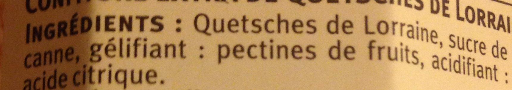 Confiture de Quetsche de Lorraine - Ingrediënten - fr