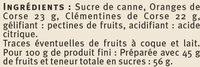 Confiture de clémentine et d'orange récoltées en Corse - Ingrediënten - fr