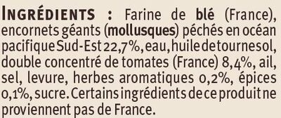 Tielles Sètoises - Ingredients