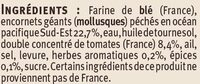 Tielles Sètoises - Inhaltsstoffe - fr