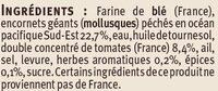 Tielles Sètoises - Ingredients - fr