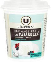 Faisselle au lait pasteurisé 7% de matière grasse Saveurs - Produit - fr