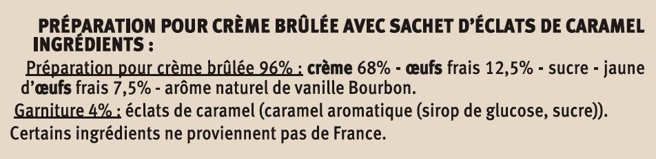 Crème brûlée nature - Ingredients