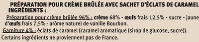 Crème brûlée nature - Ingredients - fr