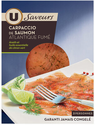 Carpaccio de saumon à l'aneth et au citron vert Saveurs - Produit - fr