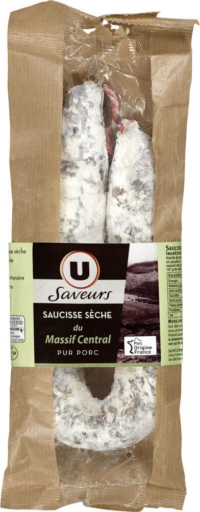 Saucisse sèche pur porc courbe du Massif Centrale - Produit - fr