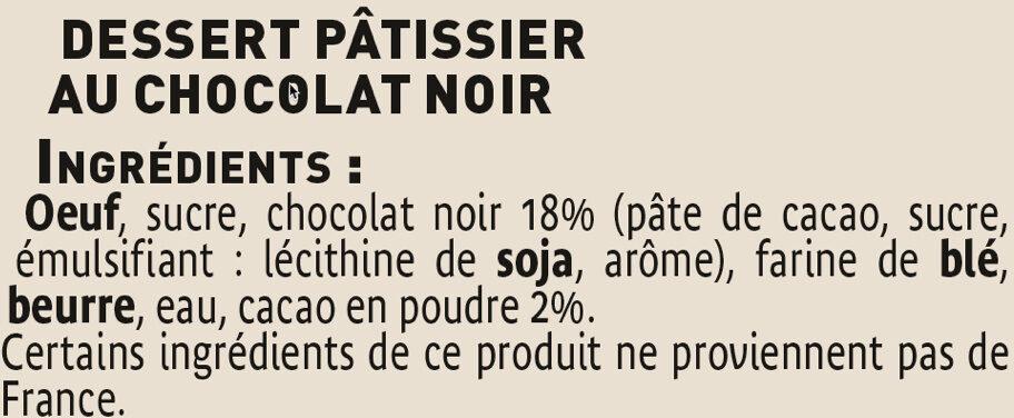 Fondant au chocolat noir - Ingredients