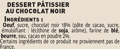 Fondant au chocolat noir - Ingredients - fr