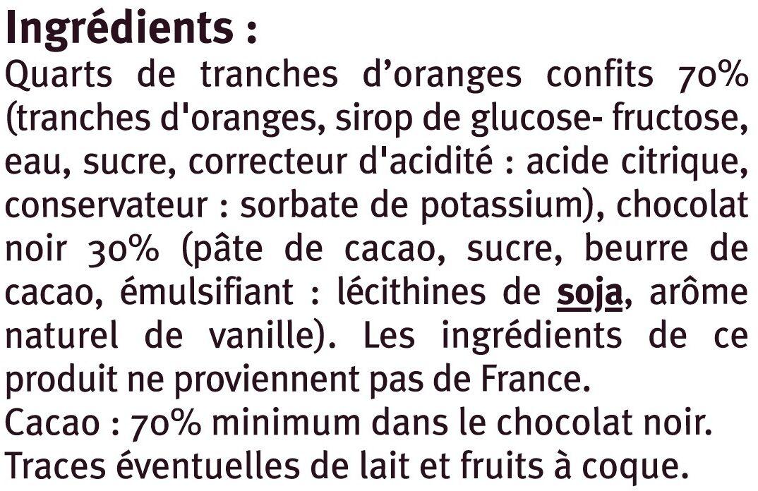 Tranches d'oranges confites enrobées de chocolat noir - Ingrediënten
