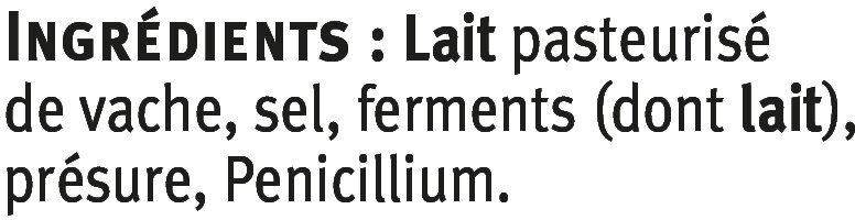 Gorgonzola AOP au lait pasteurisé 27% de MG - Ingrédients - fr