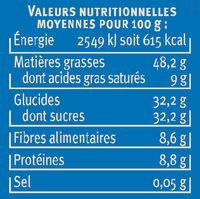Pate à tartiner au chocolat noisettes - Informazioni nutrizionali - fr