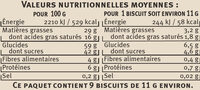 Gaufrino saveurs - Nutrition facts