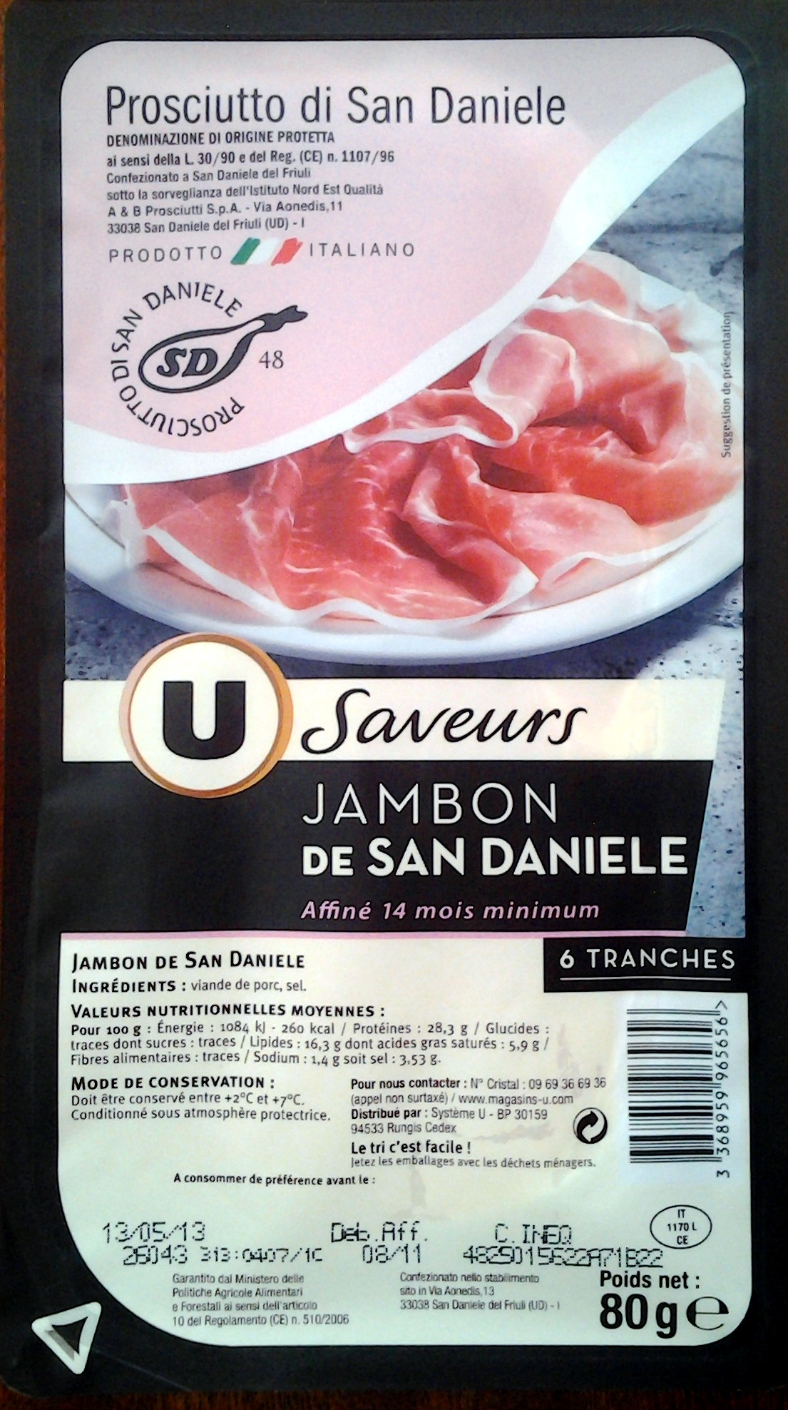 Jambon de San Daniele - Produit - fr