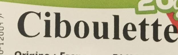 Ciboulette - Ingrediënten