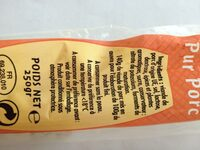 Saucisse sèche droite - Ingredients - fr
