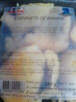 4 beignets de Banane - Ingrediënten - fr