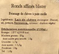 L'affiné - Ingredients - fr