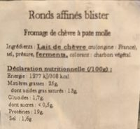 L'affiné - Nutrition facts - fr