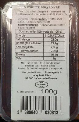 Buchette Poivre - Product