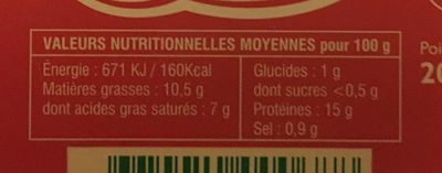 Cancoillotte du Fromager A l'Ail Rose  200g - Nutrition facts - fr