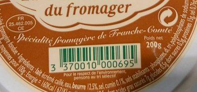 Cancoillotte du Fromager au Cumin 200g - Ingrédients - fr
