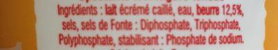 Cancoillotte au beurre - Ingredients - fr