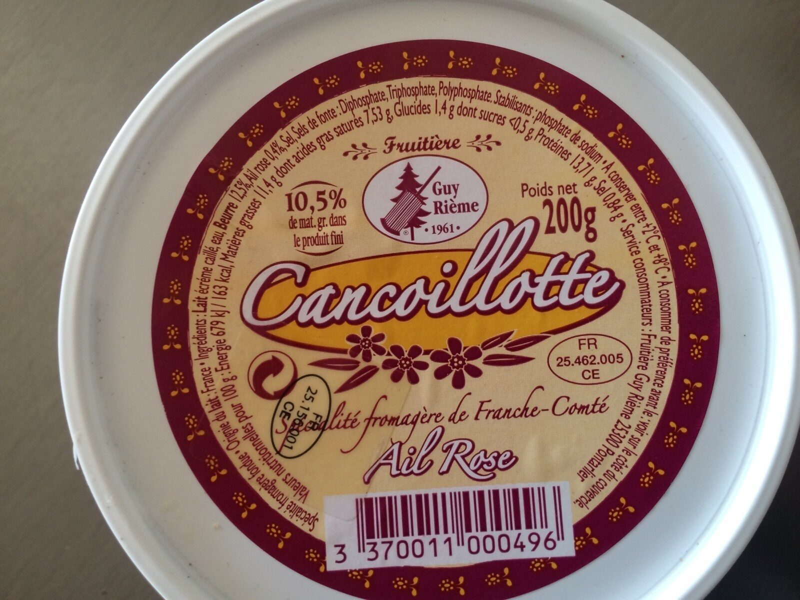 Cancoillotte ail rose - Product - fr