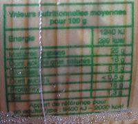Le plus titré des mont d'or ! - Nutrition facts - fr