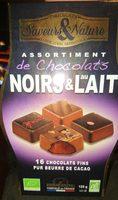 Chocolats noirs et au lait - Product