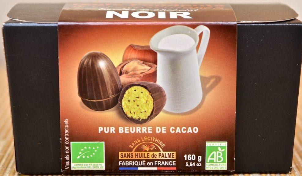 Œufs Fondants et Croustillants Enrobés de Chocolat Noir - Produit