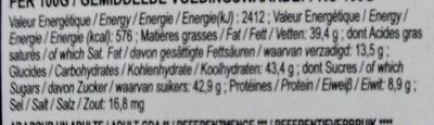 Ballotin Escargot Choc Noir - Informations nutritionnelles - fr