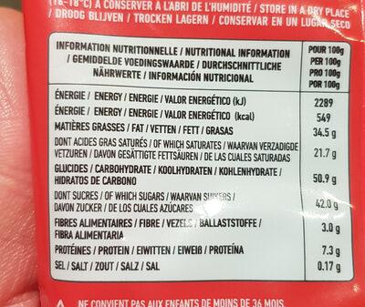 Drole De Billes Cereales Choc Lait - Informations nutritionnelles