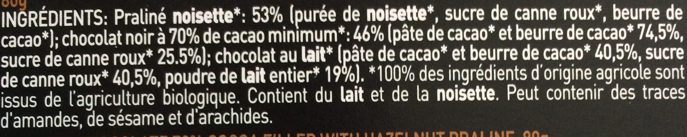 Praline noisette - Ingrediënten - fr