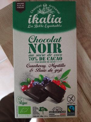 Chocolat Noir 70% Superfruit (100 GR) - Produit