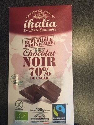 TABLETTE CHOCOLAT NOIR 70% CACAO - Produit - fr