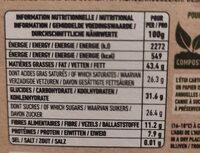 TABLETTE CHOCOLAT NOIR 70% CACAO - Informations nutritionnelles - fr